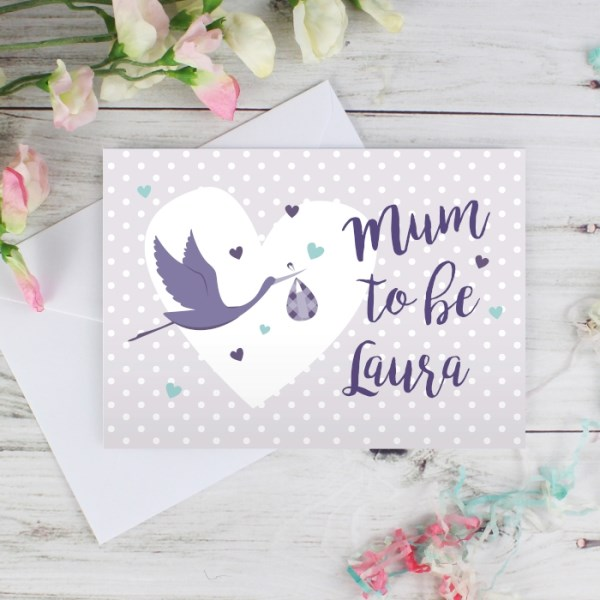 Mum to Be Stork Card