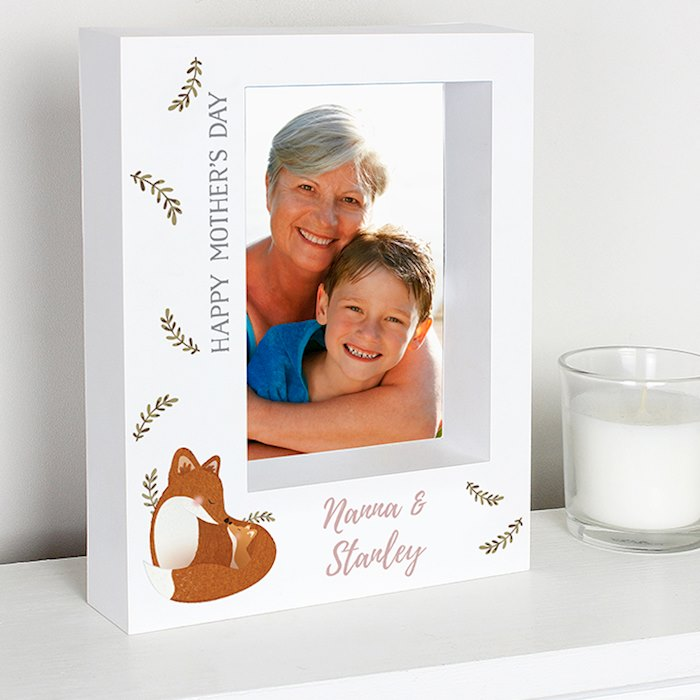 Mummy and Me Fox 5x7 Box Photo Frame