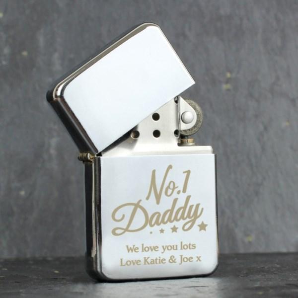 'No.1 Daddy' Silver Lighter