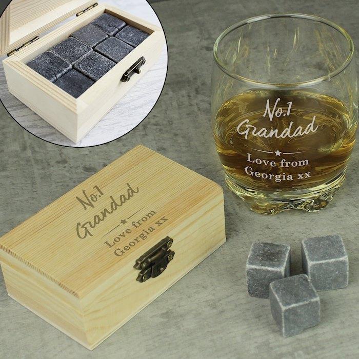 No.1 Whisky Stones & Glass Set