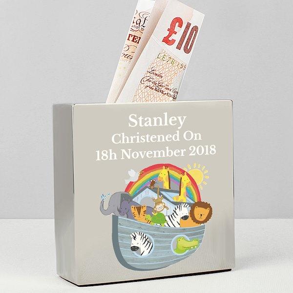 Noah's Ark Square Money Box