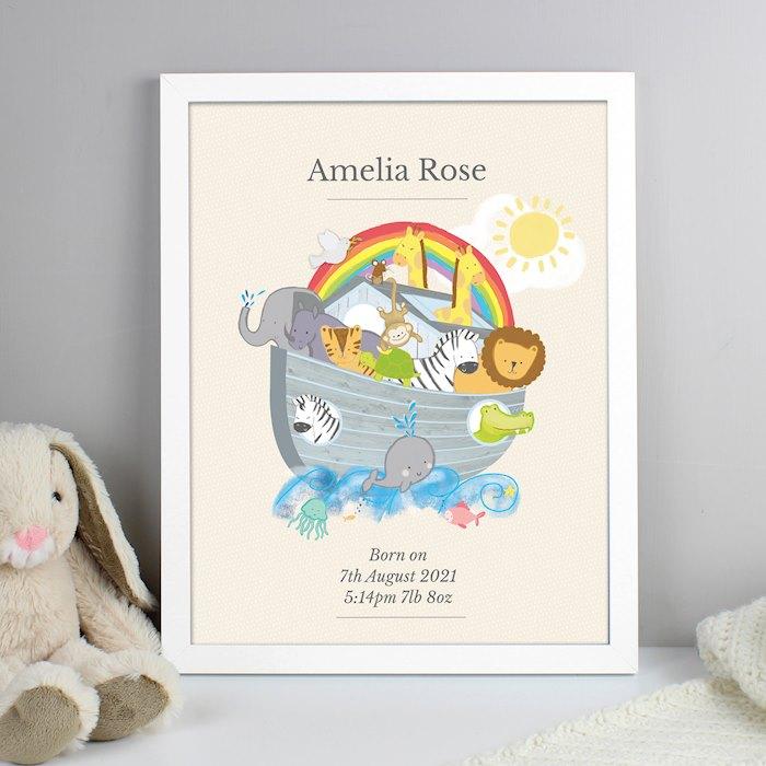 Noah's Ark White Framed Poster Print
