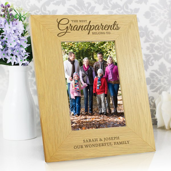 Oak Finish 'The Best Grandparents' 4x6 Photo Frame