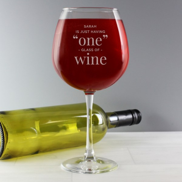 'One Glass' Bottle of Wine Glass