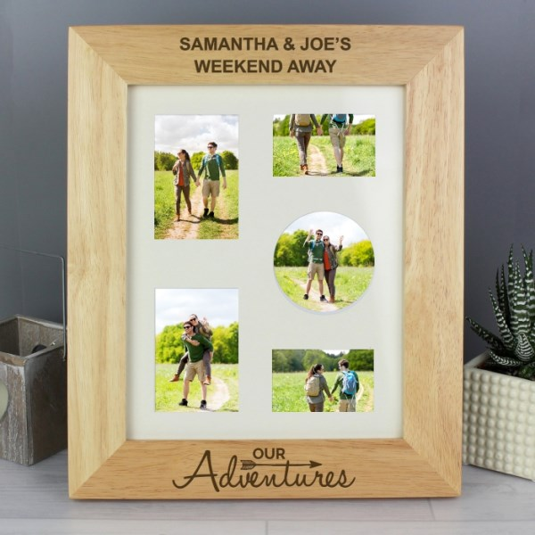 Our Adventures 8x10 Wooden Photo Frame