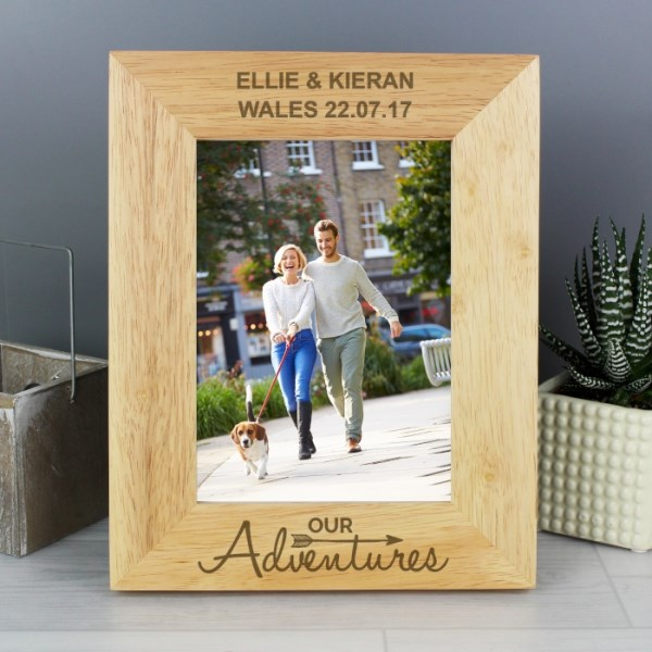 Our Adventures 7x5 Portrait Wooden Photo Frame