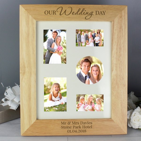 'Our Wedding Day' 8x10 Wooden Photo Frame