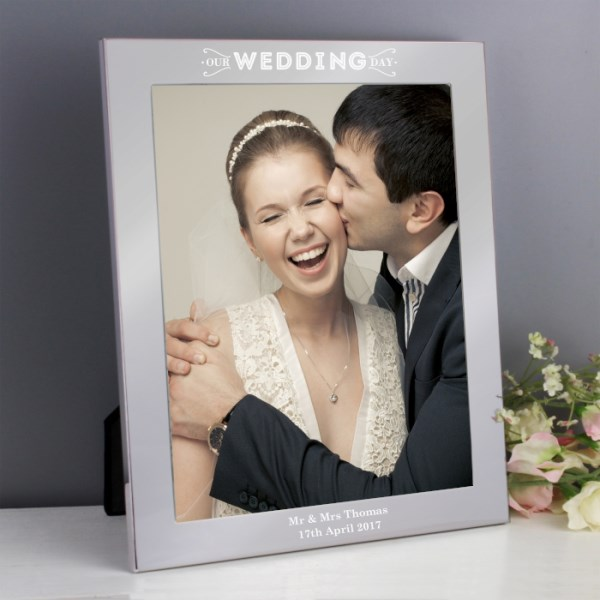 Our Wedding Day Silver 8x10 Photo Frame