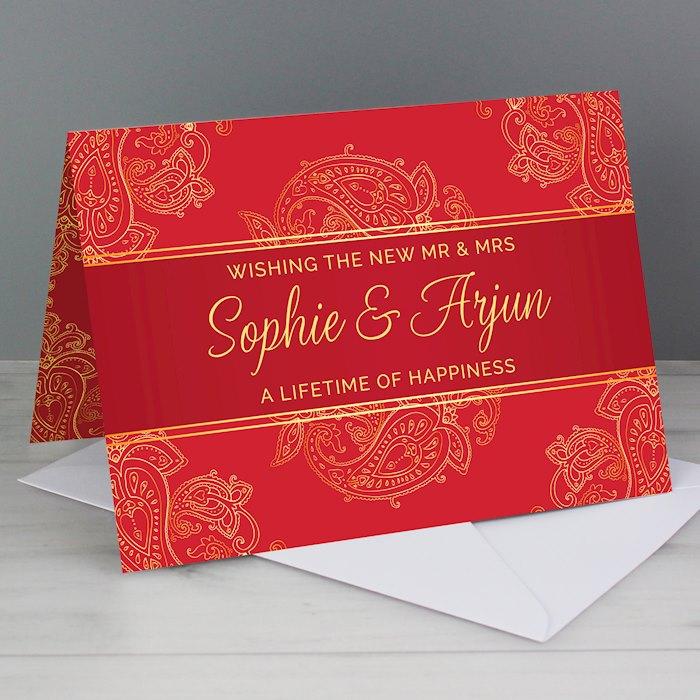 Paisley Wedding Card