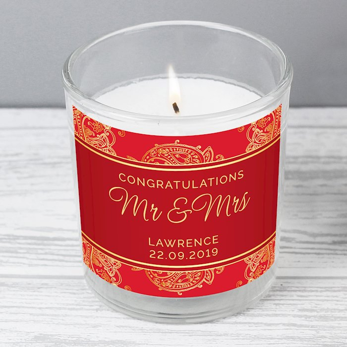 Paisley Wedding Scented Jar Candle