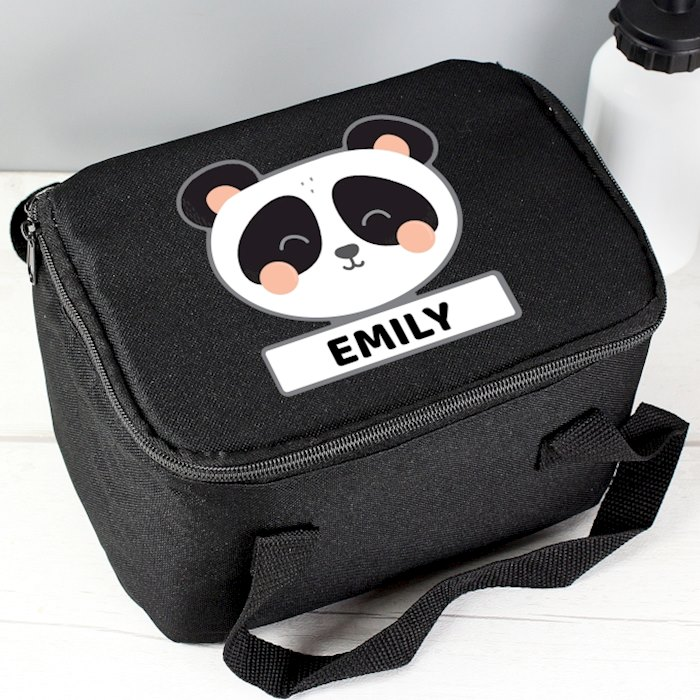 Panda Black Lunch Bag