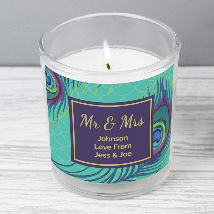 Peacock Scented Jar Candle