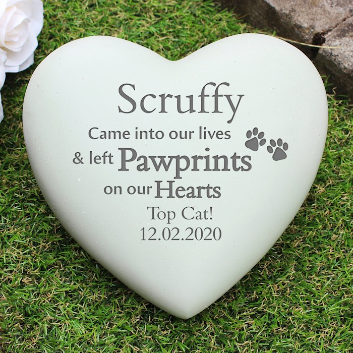 Pet Pawprints Heart Memorial