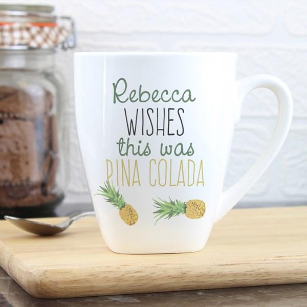 Personalised Pineapple Latte Mug