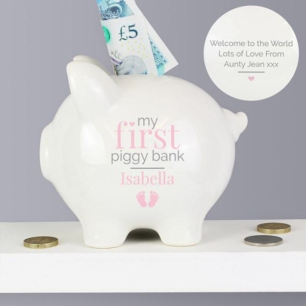 Pink My First Piggy Bank
