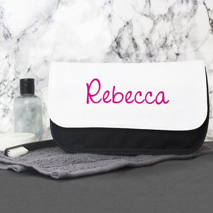 Pink Name Island Make Up Bag
