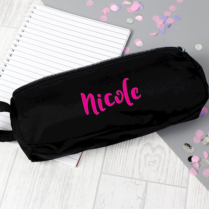 Pink Name Pencil Case