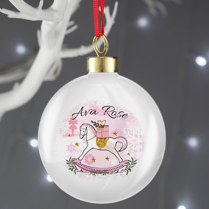 Pink Rocking Horse Bauble