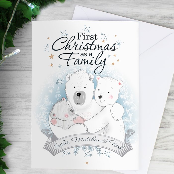 Polar Bear '1st Christmas As A Family' Card