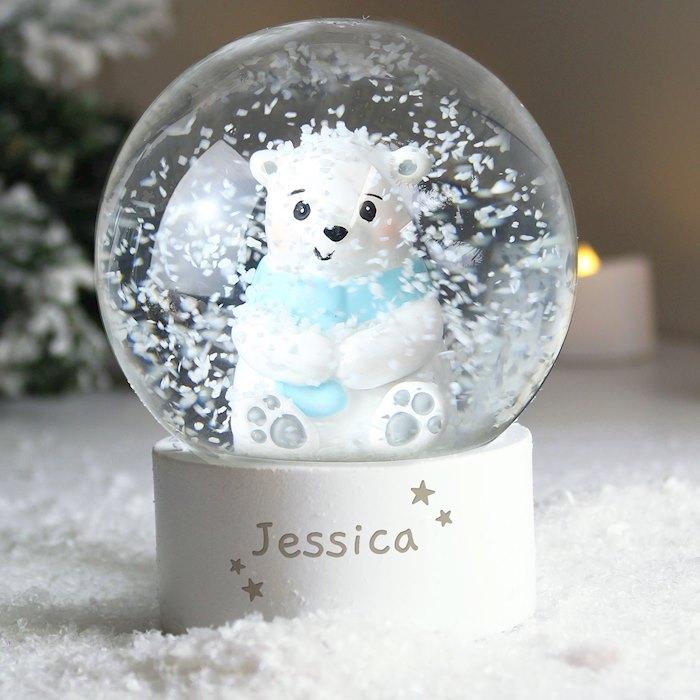 Polar Bear Any Name Snow Globe