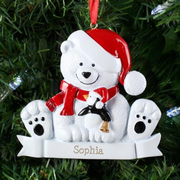 Polar Bear Resin Decoration