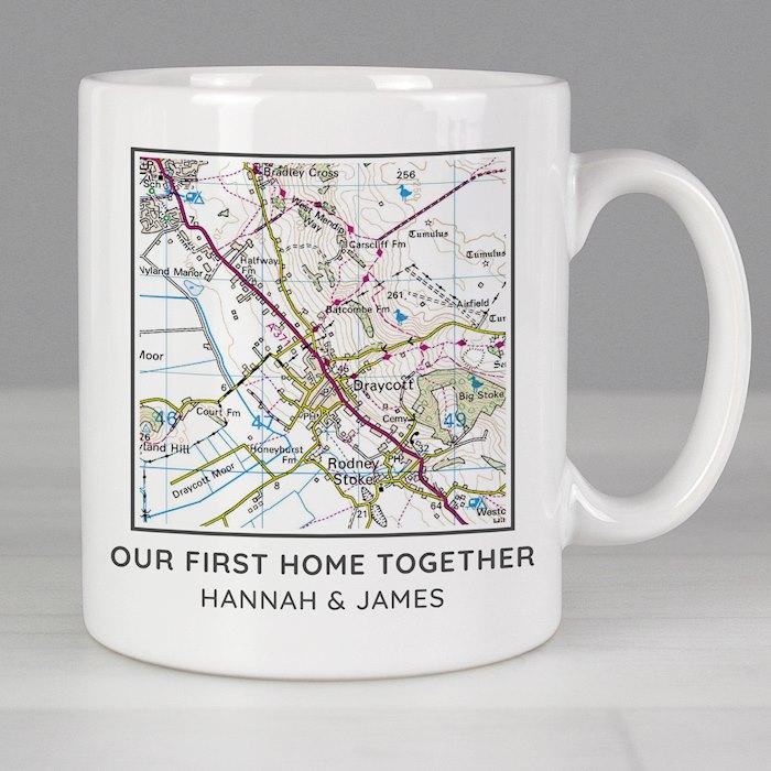 Present Day Map Compass Mug