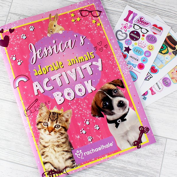 Rachael Hale Adorable Animals Activity Book With Stickers