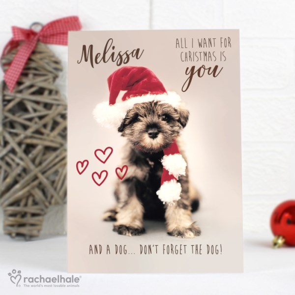 Rachael Hale 'All I Want For Christmas' Puppy Card