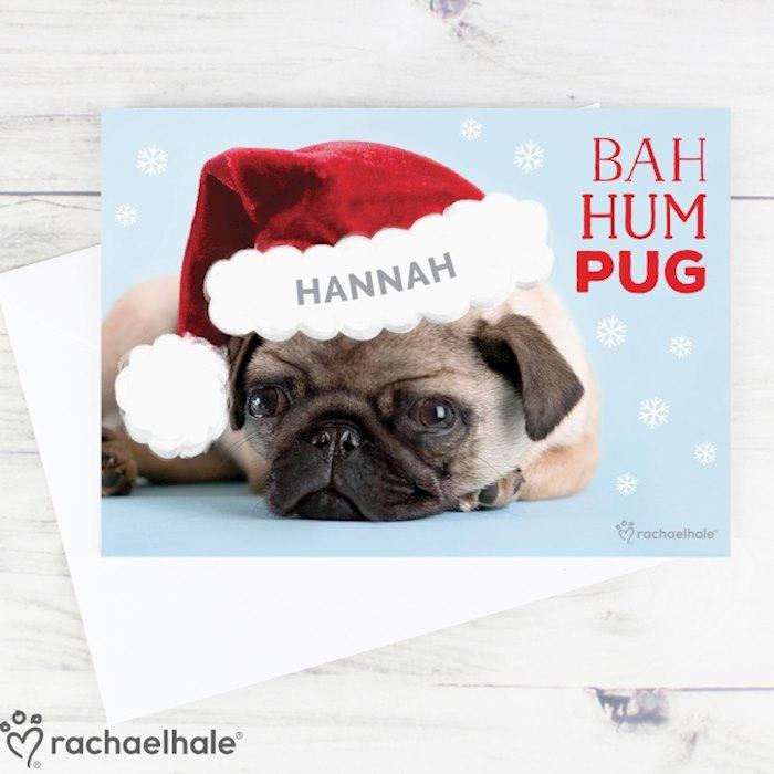 Rachael Hale Christmas Bah Hum Pug Card