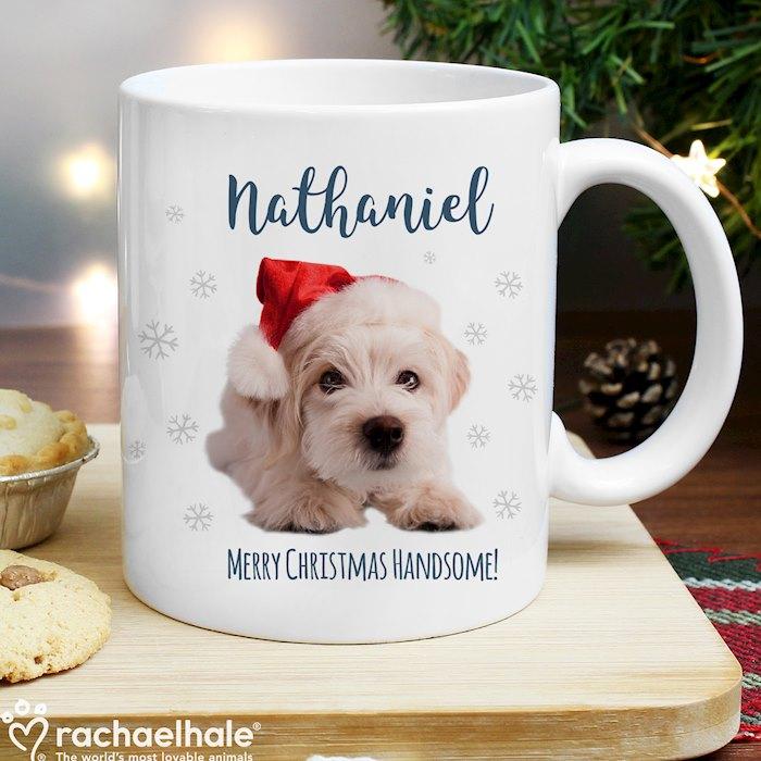Rachael Hale Christmas Terrier Dog Mug