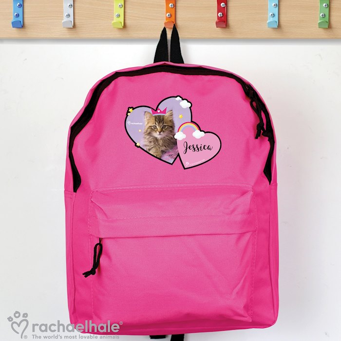 Rachael Hale Cute Cat Pink Backpack