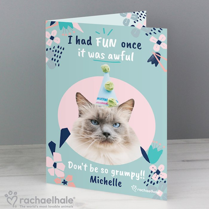 Rachael Hale 'I Had Fun Once' Birthday Cat Card