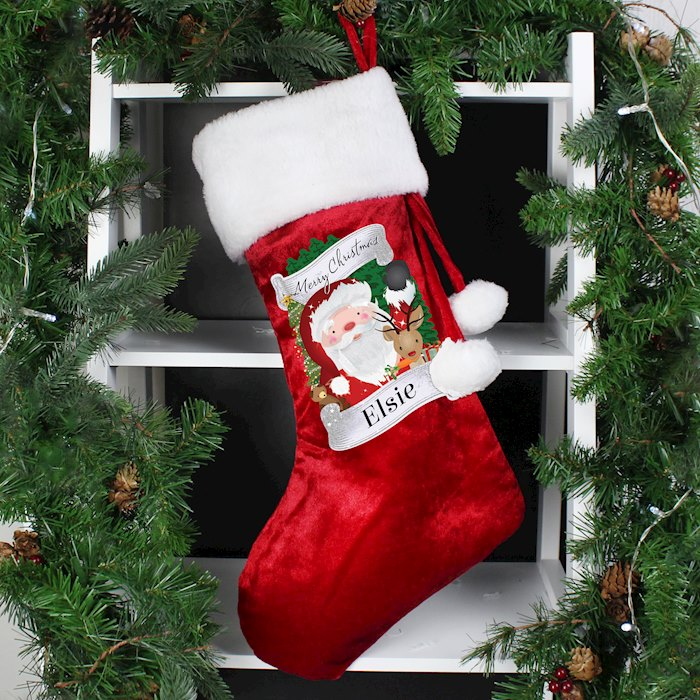 Red Christmas Santa Stocking