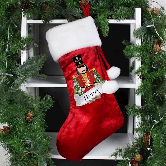 Red Nutcracker Stocking
