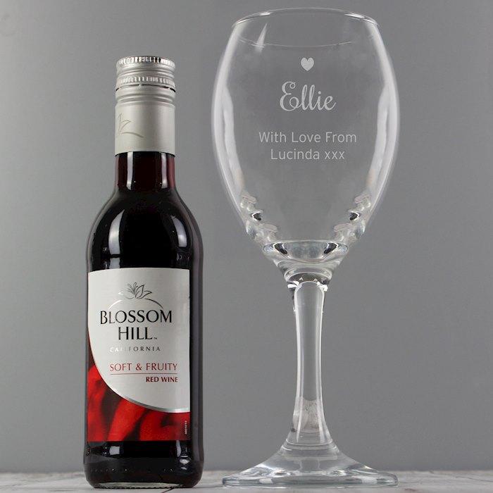 Red Wine & Heart Wine Glass Set