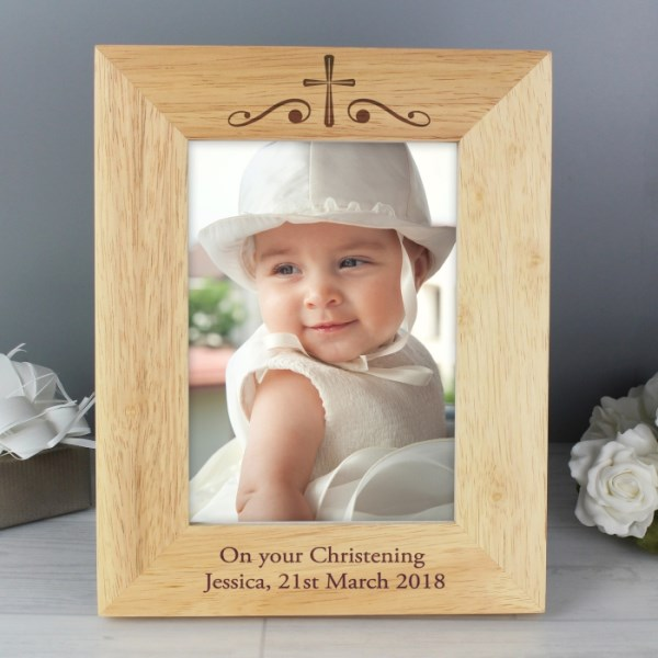 Religious Swirl 7x5 Portrait Wooden Photo Frame