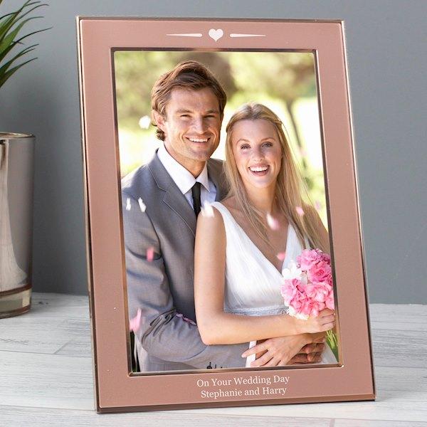 Rose Gold Heart 4x6 Frame