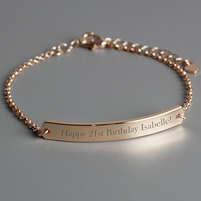 Rose Gold Tone ID Bracelet