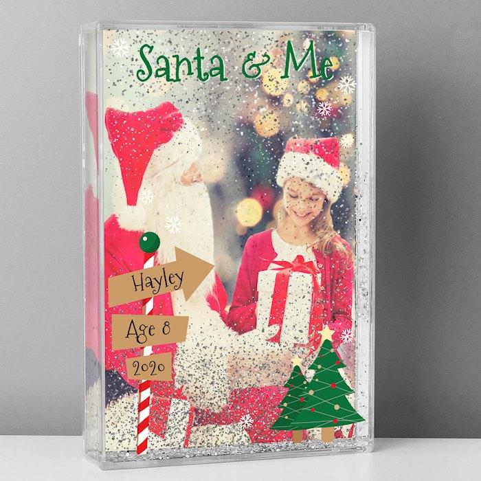 Santa & Me 6x4 Glitter Shaker Photo Frame
