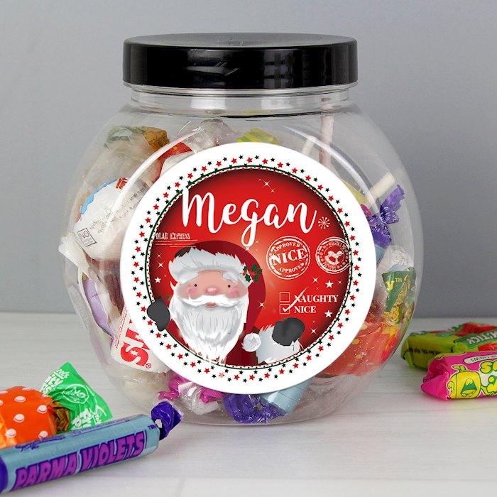 Santa 'Nice list' Sweet Jar