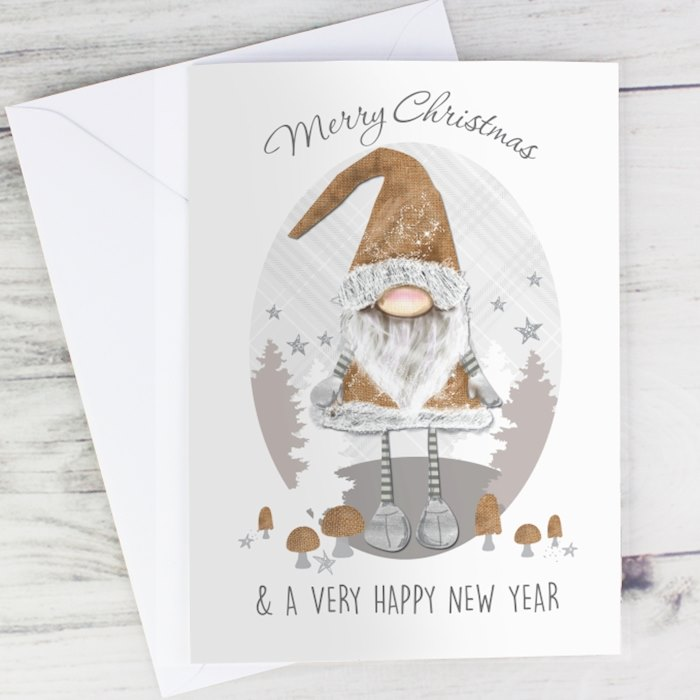 Scandinavian Christmas Gnome Card