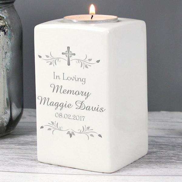 Sentiments Ceramic Tea Light Candle Holder