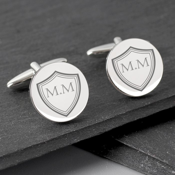 Shield Round Cufflinks