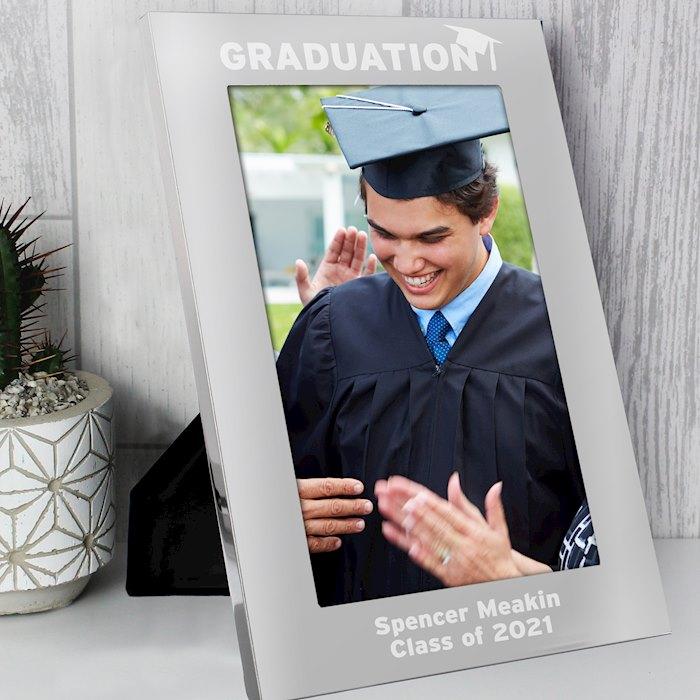 Silver 5x7 Graduation Photo Frame