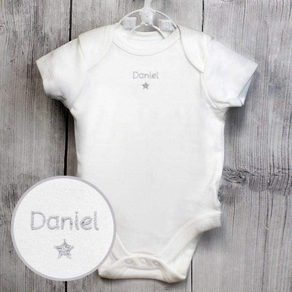 Silver Star 0-3 Months Baby Vest