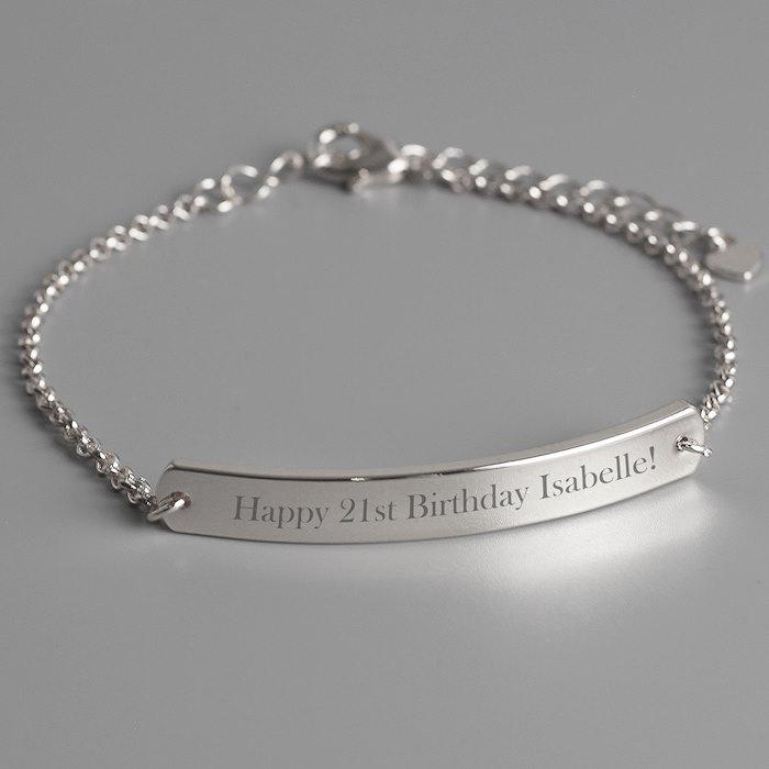 Silver Tone ID Bracelet