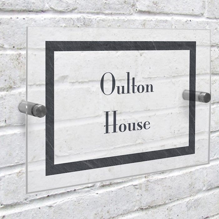 Slate Effect Acrylic House Sign