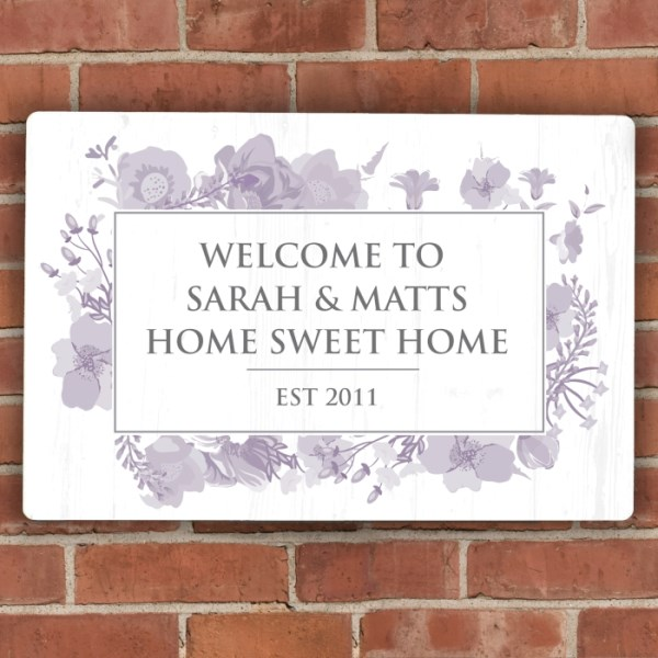 Soft Watercolour Metal Sign