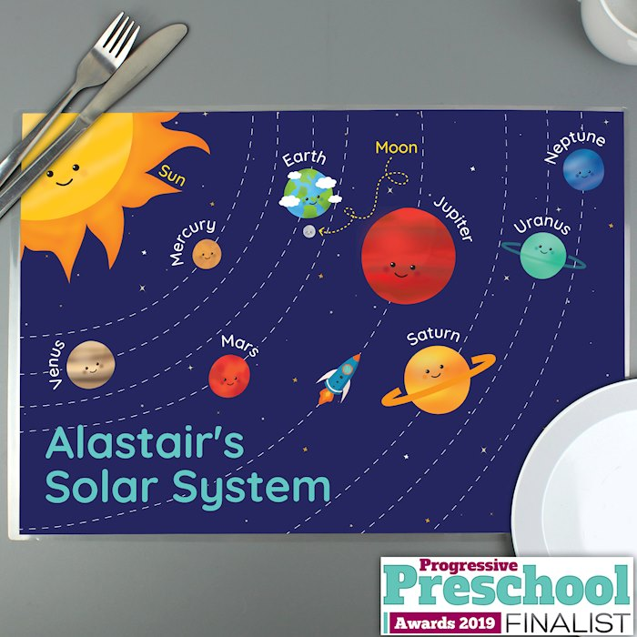 Solar System Laminated Print Placemat