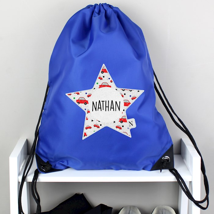 Star With Car Pattern Blue Kit Bag
